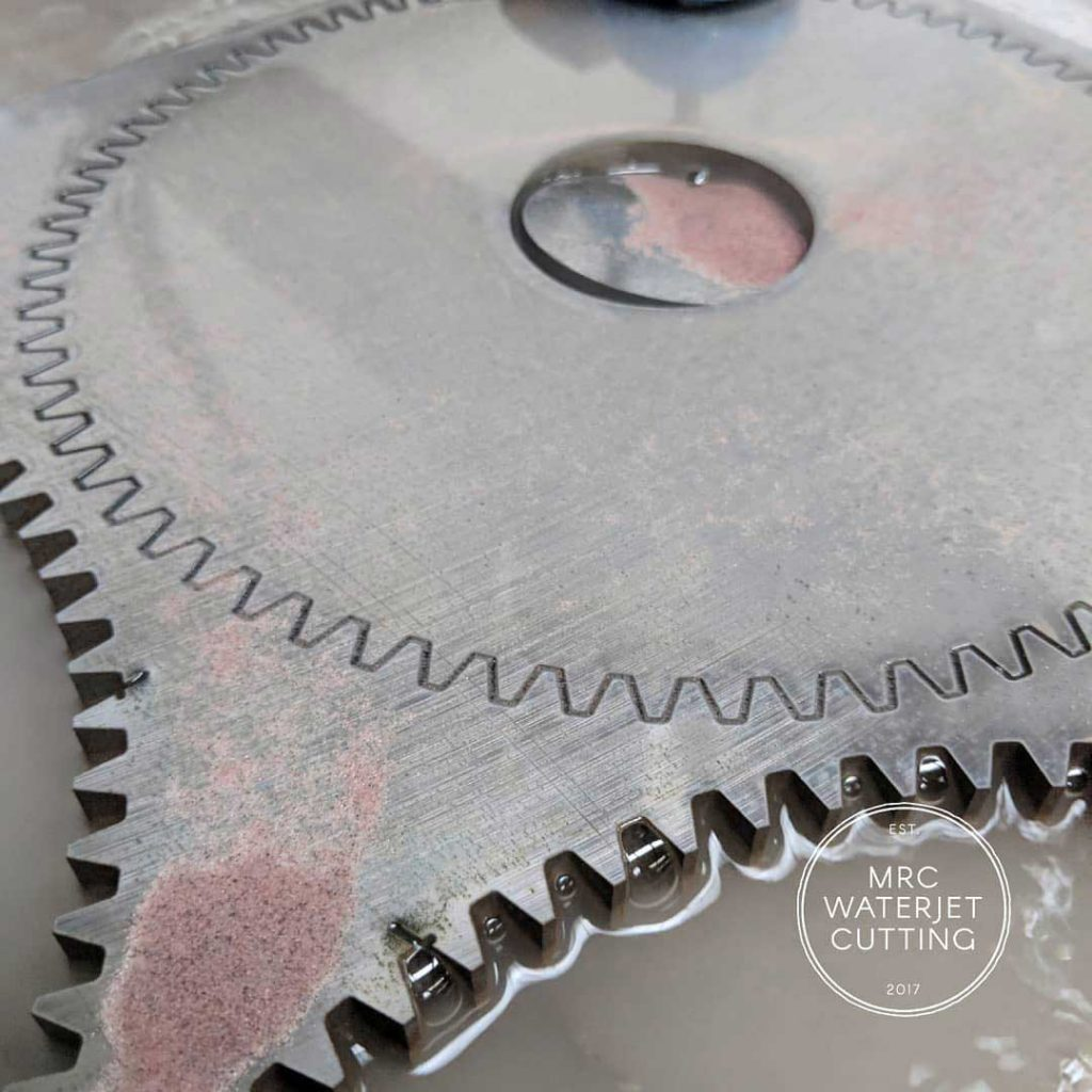 Here are the gears that we cut from that K1042 plate.