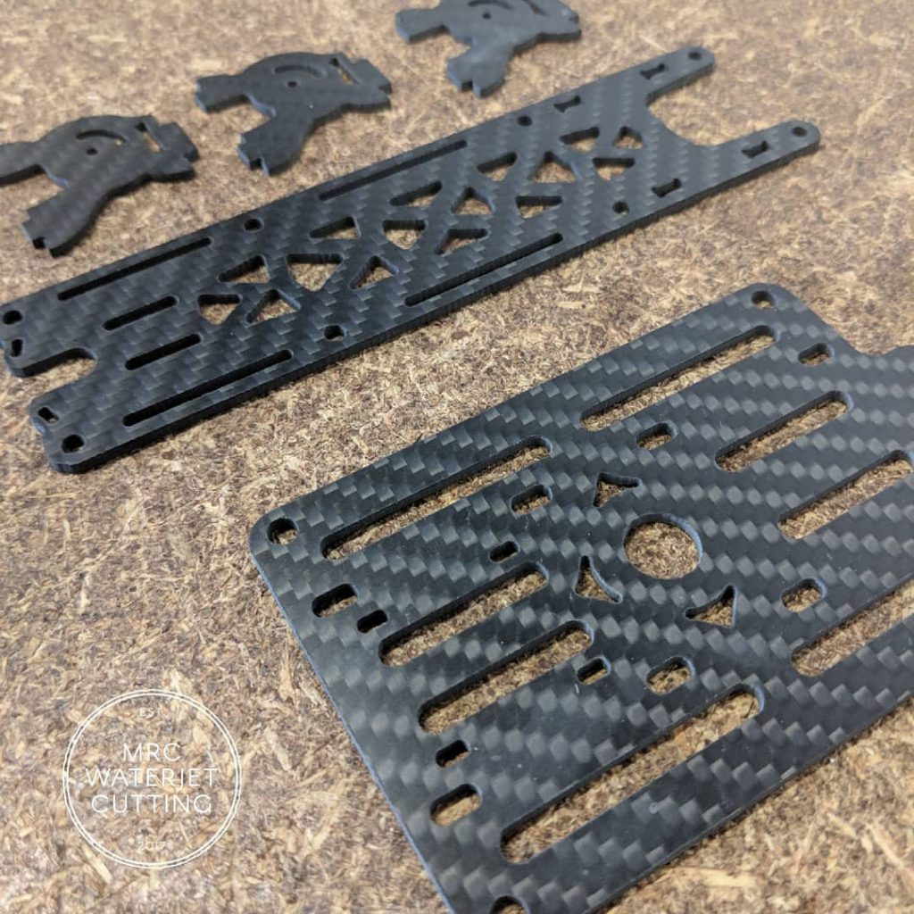 Parts waterjet for Freestyle Drone out of Carbon Fibre