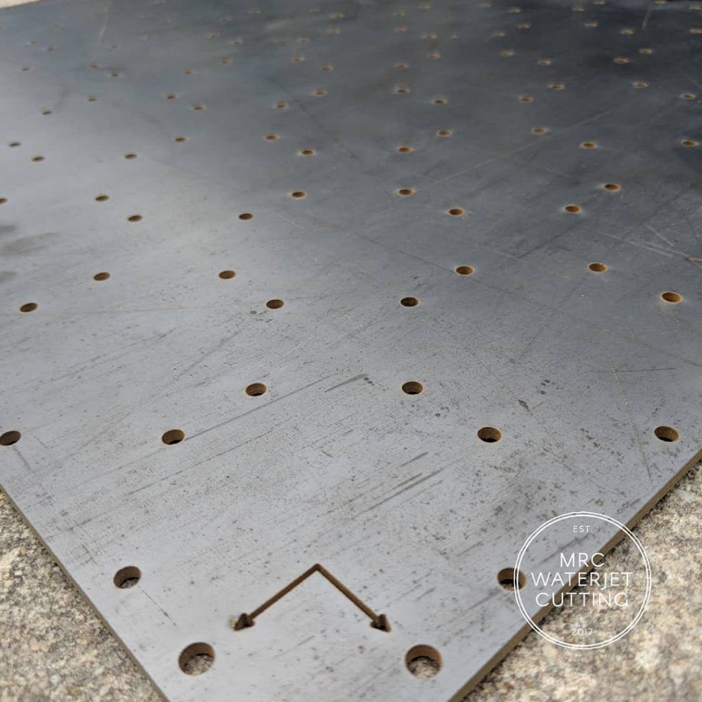 Drilling Template Waterjet to fit the customers specific needs