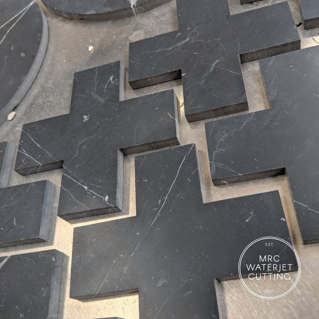 We love the fact that we get to work with different industries. This job requires different types of marble to be Waterjet into shapes for a Melbourne based homewares company.