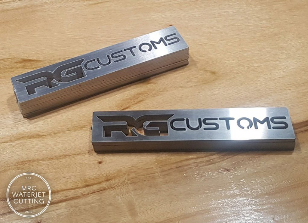Waterjet Stainless Tags our Customers own Automotive Creations