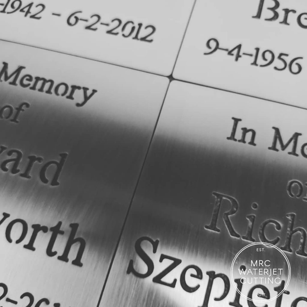 Happy to have been able to donate these memorial plaques to the Healsville SES. Cut from 2mm stainless.