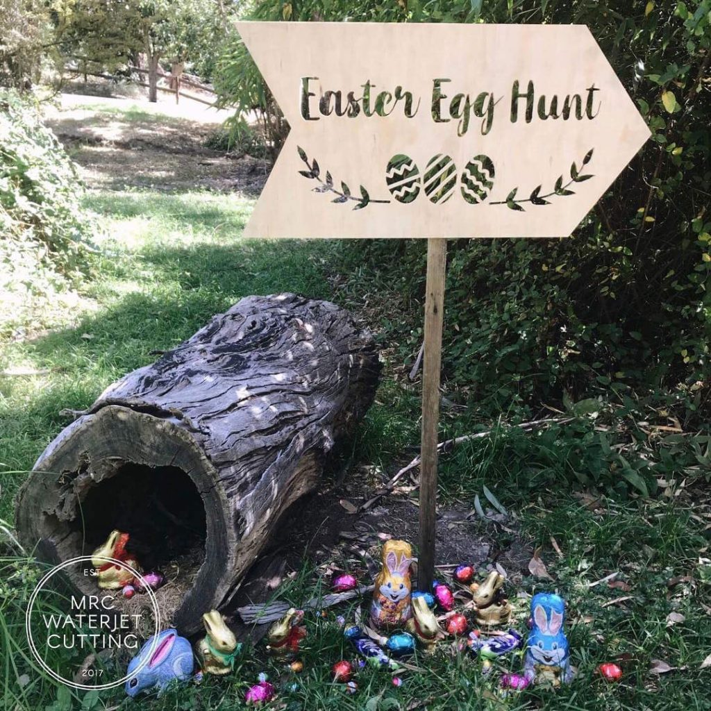 More Plywood Signage, this time to celebrate the fun of Easter egg hunts